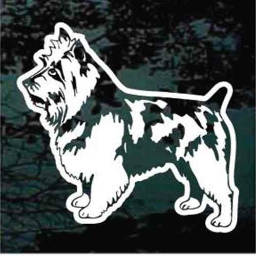 Australian Terrier Standing Window Decal