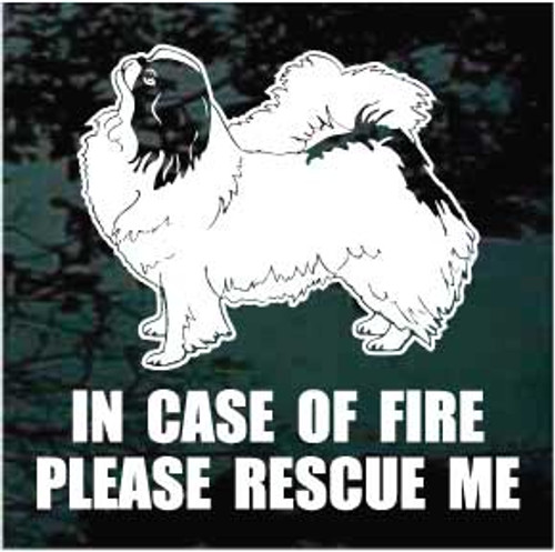 Fire Rescue Japanese Chin Decals
