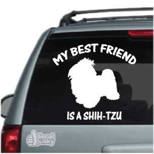 Best Friend Shih-Tzu Car Decals
