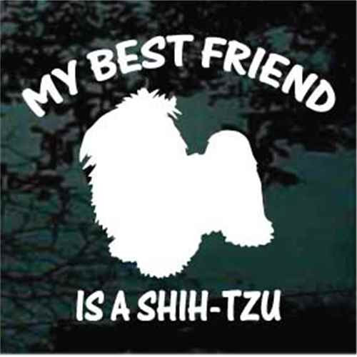 Best Friend Shih-Tzu Window Decals