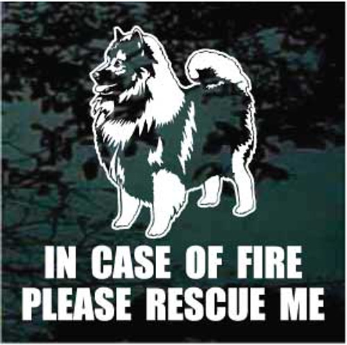 Fire Rescue Keeshond Decals