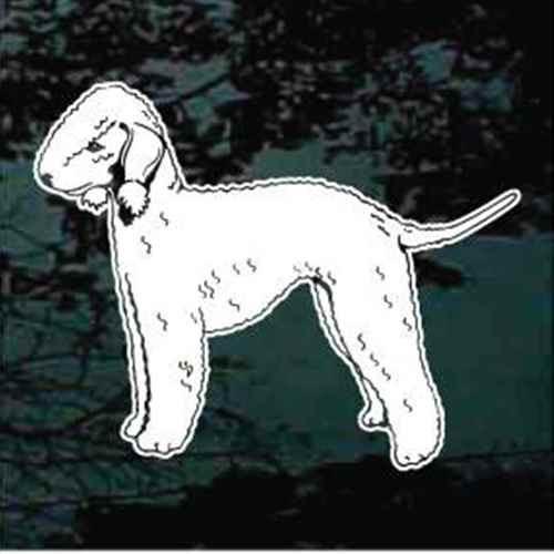Detailed Bedlington Terrier Window Decal