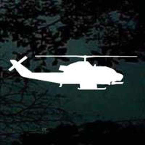 Helicopter Side View Silhouette Decals