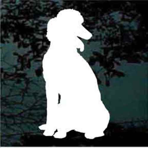 Poodle Sitting Window Decal