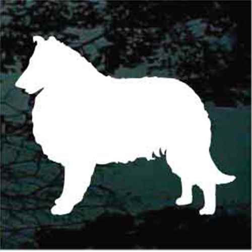 Collie Standing Silhouette Window Decal
