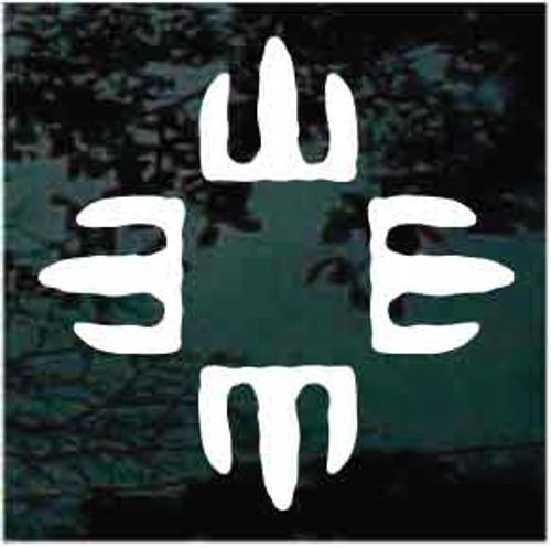 Petroglyph Four Winds Window Decal