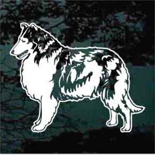 Collie Standing Window Decal