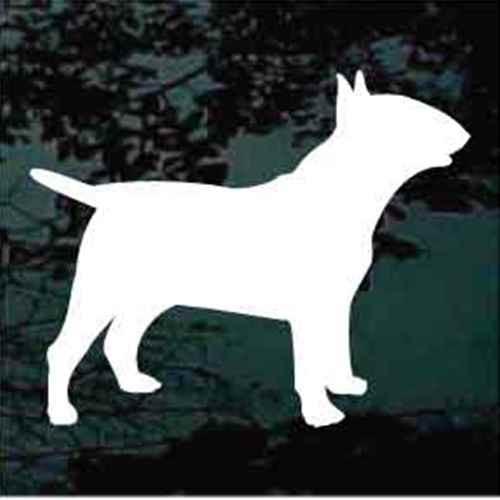 Bull Terrier Silhouette Window Decals