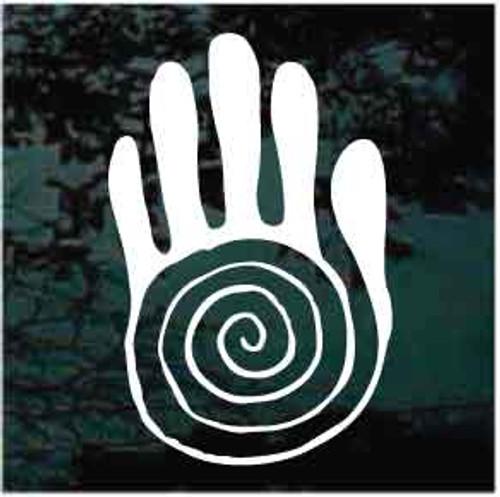 Petroglyph Sacred Hand Window Decal