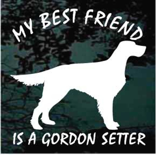 Gordon Setter 01 Silhouette Best Friend Window Decal