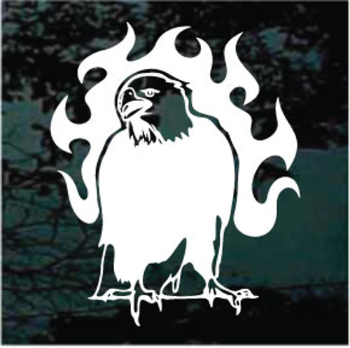 Eagle On Fire Window Decals