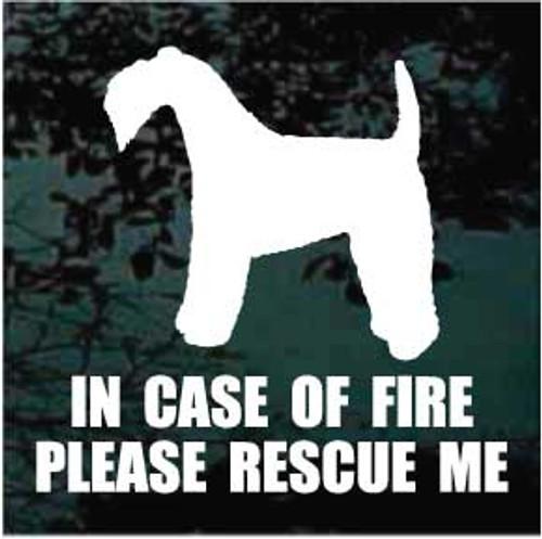 Kerry Blue Terrier 01 Silhouette Fire Rescue
