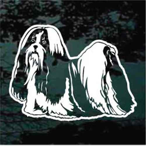 Detailed Shih Tzu Window Decals