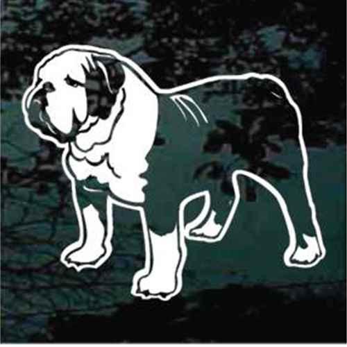 Detailed English Bulldog Window Decal