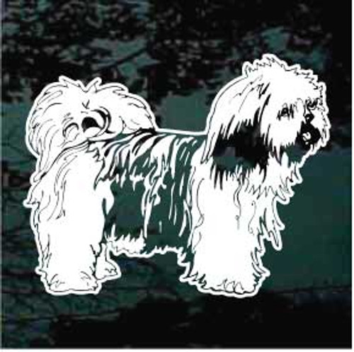 Lhasa Apso 01 Window Decal