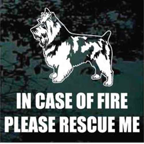 Fire Rescue Australian Terrier Window Decal