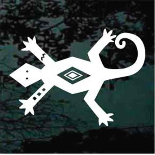 Petroglyph Lizard Design Decals