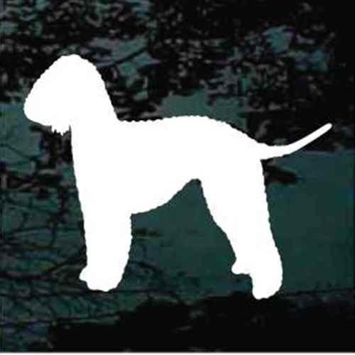 Solid Bedlington Terrier Window Decal