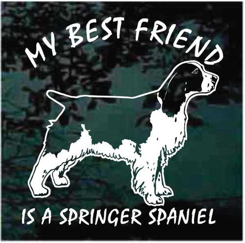 My Best Friend is a Springer Spaniel Decals