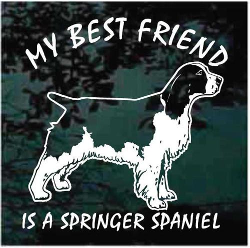 My Best Friend is a Springer Spaniel Decals