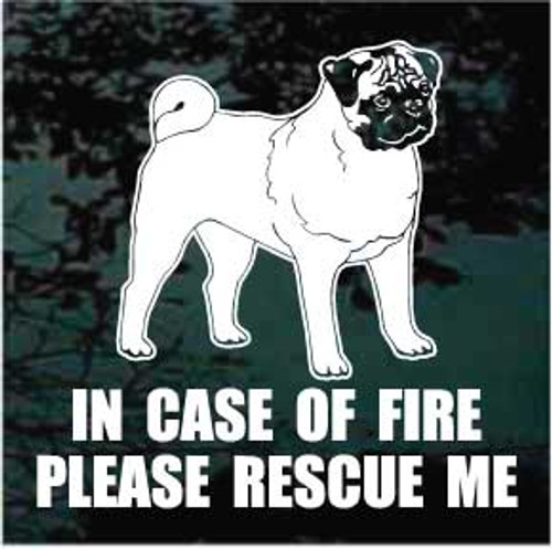 Pug 01 Fire Rescue Window Decal
