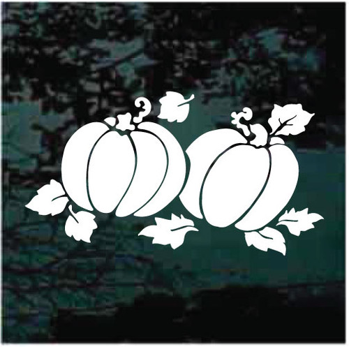 Decorative Pumpkins Window Decals