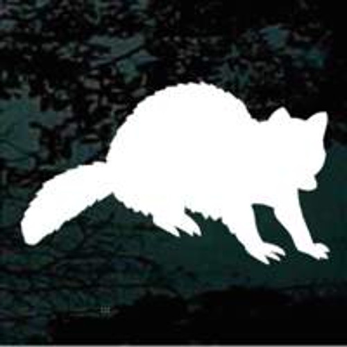 Cute Raccoon Silhouette Decals