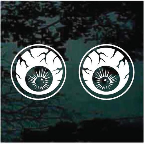 Round Eyeballs Window Decals