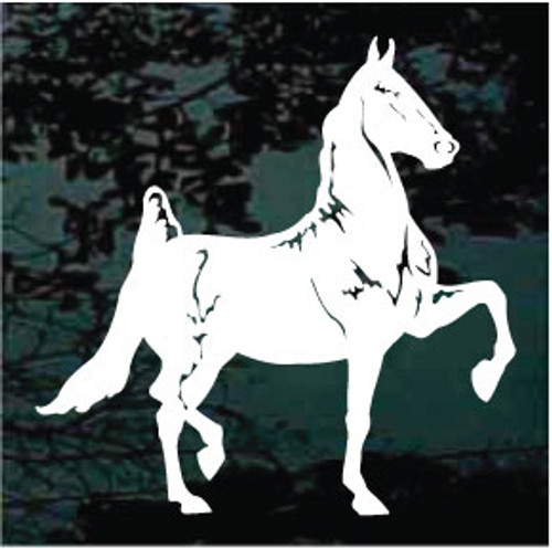 Pretty American Saddlebred Horse Decals