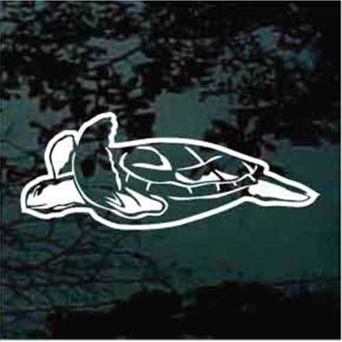 Swimming Sea Turtle Window Decals
