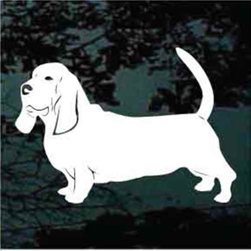 Solid Basset Hound Decals