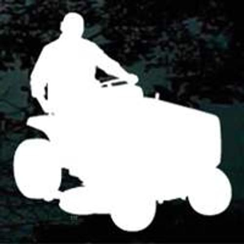 Man On Lawnmower