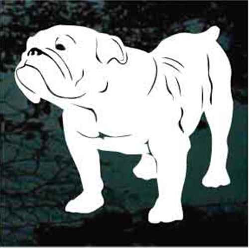 British Bulldog Standing Decals