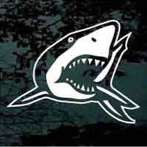 Shark Showing Teeth Window Decals
