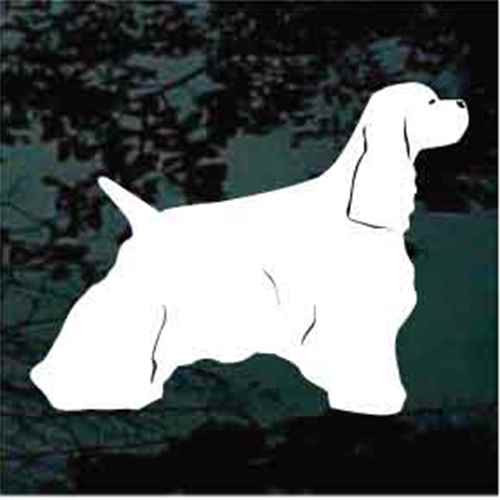 Cocker Spaniel Stance Window Decal