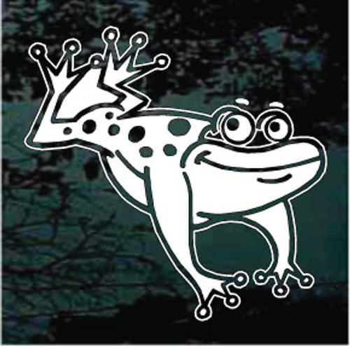 Happy Frog Jumping Window Decals