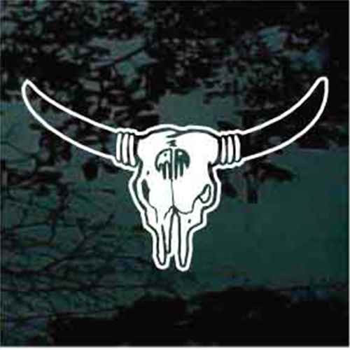Bull Skull With Horns Window Decals