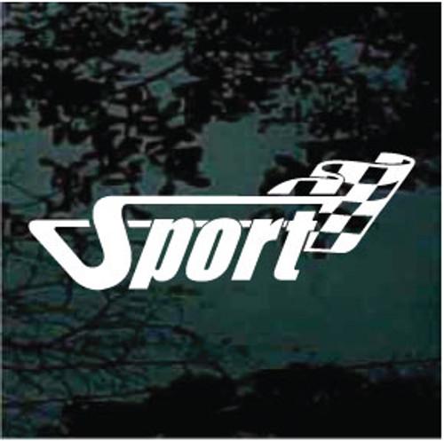 Sport Racing Race Flag Decals