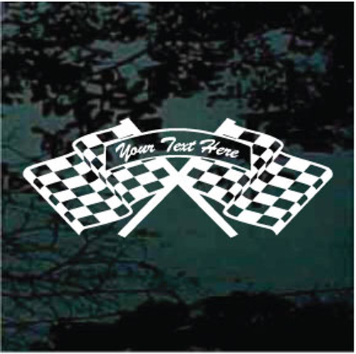 Personalized Race Flags Decals