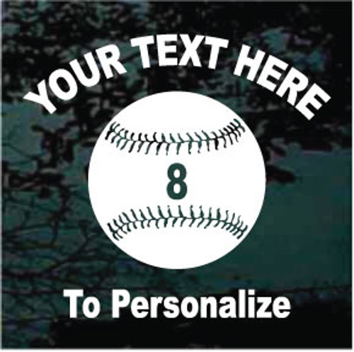 Softball 02 Arched Arial Bold Text + Rockwell Number