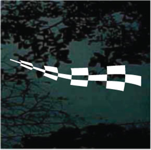 Checkered Race Flag Auto Graphic
