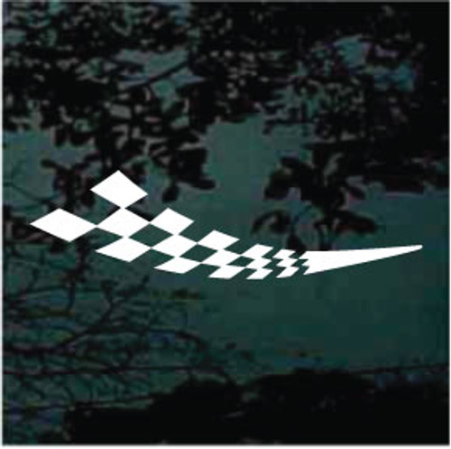 Curved Racing Flag Graphic Decals