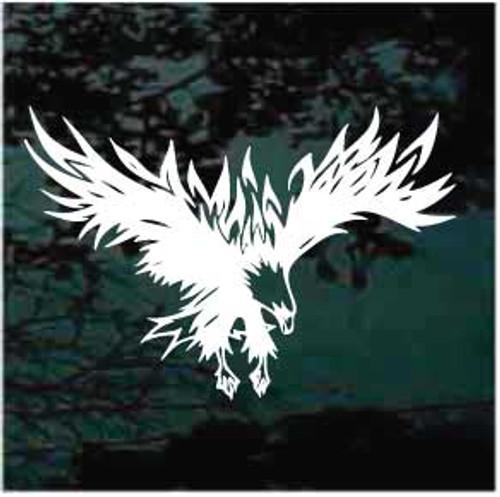 649760ce5 Tribal Eagle Tattoo Window Decals; Tribal Eagle Tattoo Car Decals
