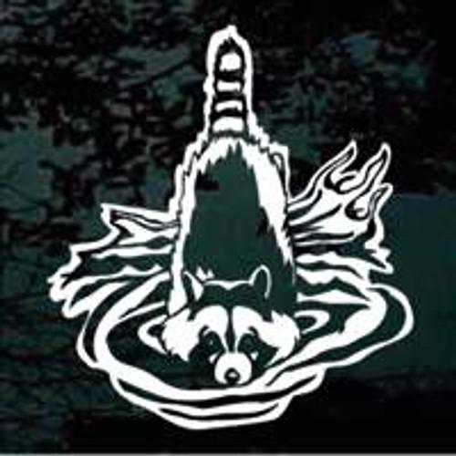 Raccoon In The Water Decals