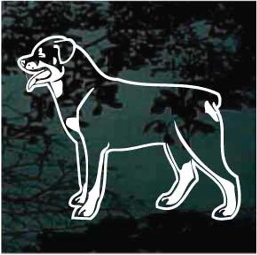 Rottweiler 02 Window Decal