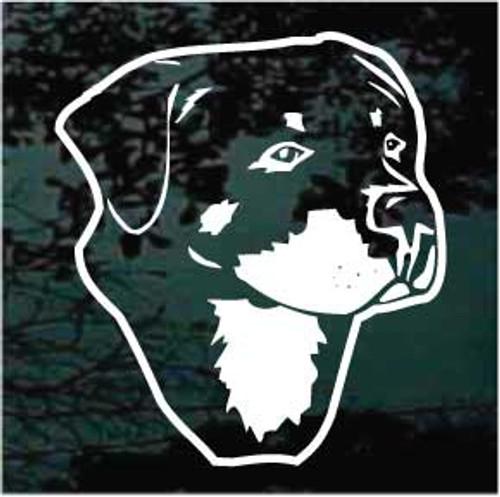 Rottweiler Head 01 Window Decal