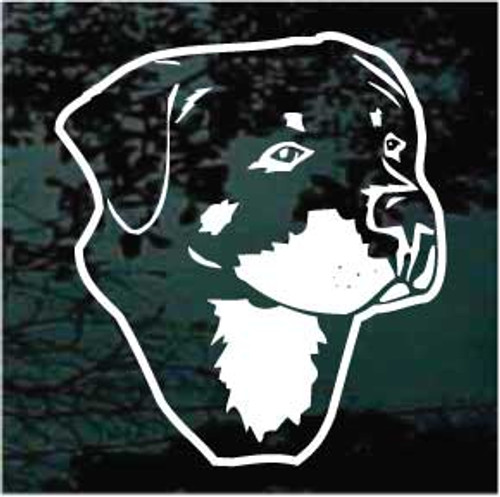 Awesome Rottweiler Head Decals