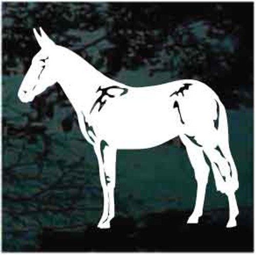 Mule Standing Window Decals
