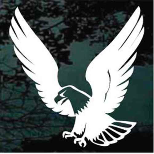 Solid Landing Falcon Window Decal