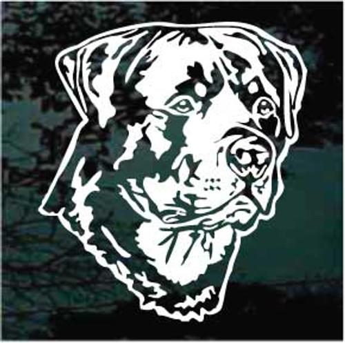 Rottweiler Head 03 Window Decal